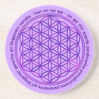 Flower Of Life - Moola Mantra - violet Coaster