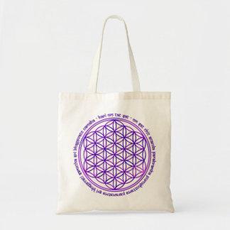 Flower Of Life - Moola Mantra - violet Tote Bag
