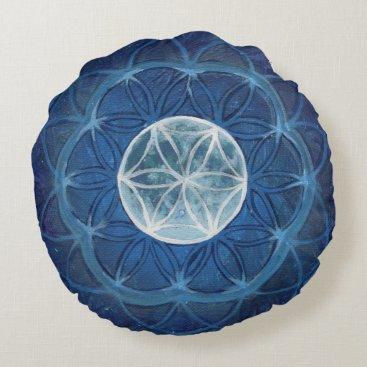 LindaFabry Flower of Life Moon Mandala Meditation Pillow