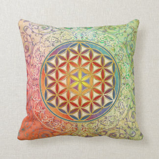 Flower of Life - Ornament I Throw Pillow