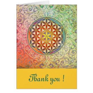 Flower of Life - Ornament I + your Text Greeting Cards