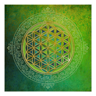 Flower of Life - Ornament II Poster