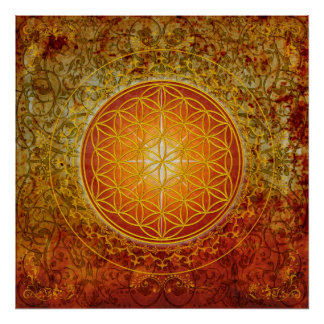 Flower of Life - Ornament III Poster