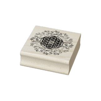 Flower Of Life - ornaments gold silver Rubber Stamp