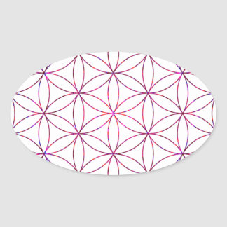 Flower of Life Oval Sticker