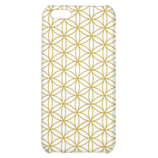 Flower of Life Pattern – Gold on White Cover For iPhone 5C