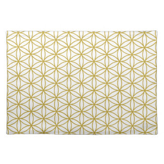 Flower of Life Pattern – Gold on White Placemats