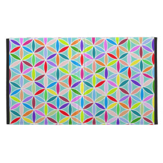 Flower of Life Pattern – Multicoloured iPad Folio Cover