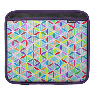 Flower of Life Pattern – Multicoloured Sleeves For iPads