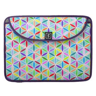 Flower of Life Pattern – Multicoloured MacBook Pro Sleeves