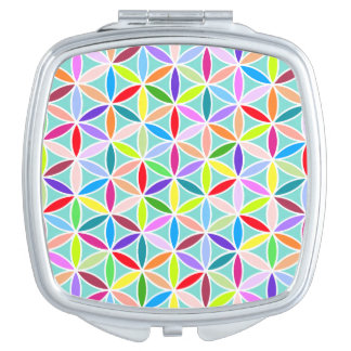Flower of Life Pattern – Multicoloured Mirrors For Makeup