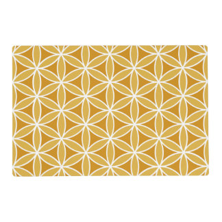 Flower of Life Pattern Oranges & White Placemat