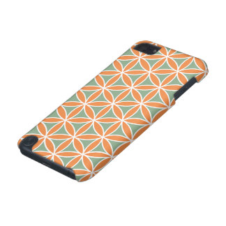 Flower of Life Pattern White Green Orange iPod Touch 5G Cover