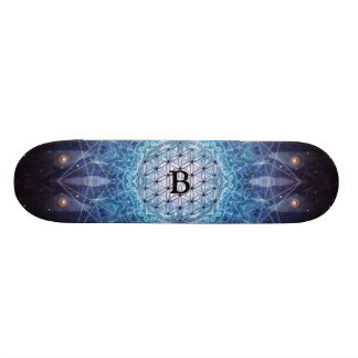 Flower of Life / Personalized Spiritual Gift Skateboard Deck