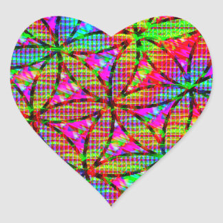 Flower of Life Psychedelic Heart Sticker
