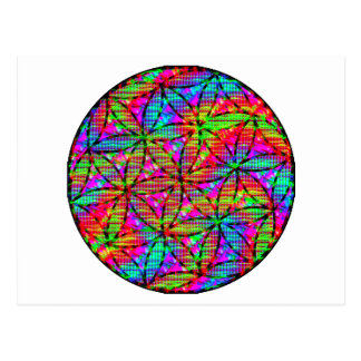 Flower of Life Psychedelic Postcard