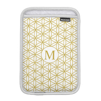 Flower of Life Ptn (Personalised) – Gold on White iPad Mini Sleeves