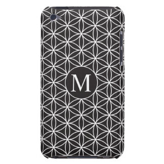 Flower of Life Ptn (Personalised) – White on Black iPod Touch Case-Mate Case