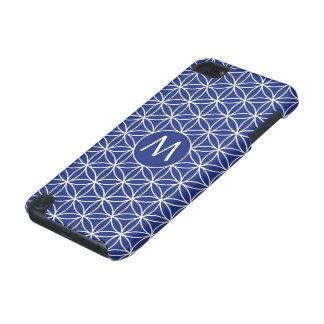 Flower of Life Ptn (Personalized) White on Blue iPod Touch (5th Generation) Case