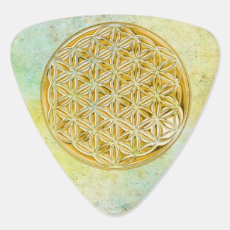 Flower of Life - punched gold Guitar Pick