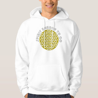 FLOWER OF LIFE - punched - SPIRIT ENERGY TO GO Hoodie