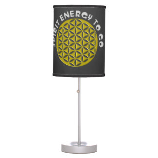 Flower of Life - punched - spirit energy to go Table Lamp