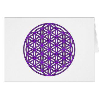 Flower of Life Purple Card