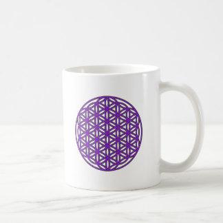 Flower of Life Purple Coffee Mug