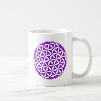 Flower of Life Purple Mugs