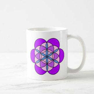 Flower of Life PurplePink Coffee Mug