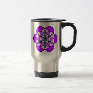 Flower of Life PurplePink Mugs