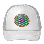 Flower of Life (rainbow) sacred geometry symbol Trucker Hats
