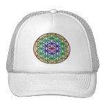 Flower of Life (rainbow) sacred geometry symbol Trucker Hats