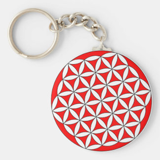 Flower of Life Red Keychain