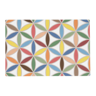Flower of Life Retro Color Big Pattern Placemat