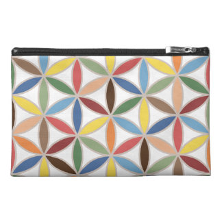 Flower of Life Retro Color Big Pattern Travel Accessory Bags
