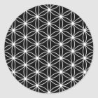 Flower Of Life Sacred Geometry Classic Round Sticker