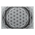 Flower of life, Sacred Geometry, Healing Symbol Cloth Placemat