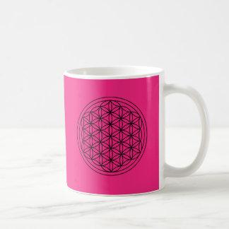 Flower of Life Sacred Geometry Magenta Mug