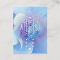*~* Flower of Life  Sacred Geometry Reiki Yoga Business Card