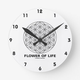 Flower Of Life (Sacred Geometry) Round Clock