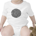 Flower of Life Sacred Geometry Symbol (black) Baby Creeper