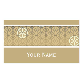 Flower Of Life - seamless pattern - blue beige Double-Sided Standard Business Cards (Pack Of 100)