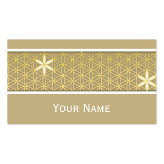 Flower Of Life - seamless pattern - golden Double-Sided Standard Business Cards (Pack Of 100)