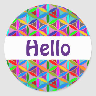 Flower of Life - seamless pattern - gradient color Classic Round Sticker