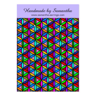 Flower of Life - seamless pattern - multi colored Large Business Card