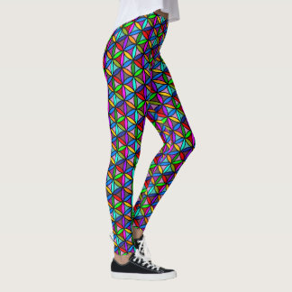 Flower of Life - seamless pattern - multi colored Leggings