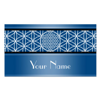 Flower of Life - seamless plain white + your backg Double-Sided Standard Business Cards (Pack Of 100)
