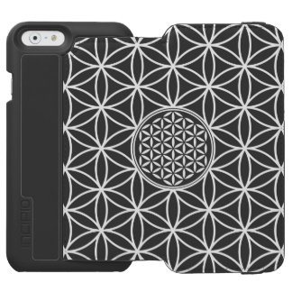 Flower of Life - seamless plain white + your backg iPhone 6/6s Wallet Case