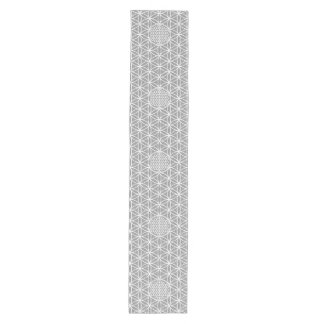 Flower Of Life   Seamless Plain White + Your Backg Medium Table Runner